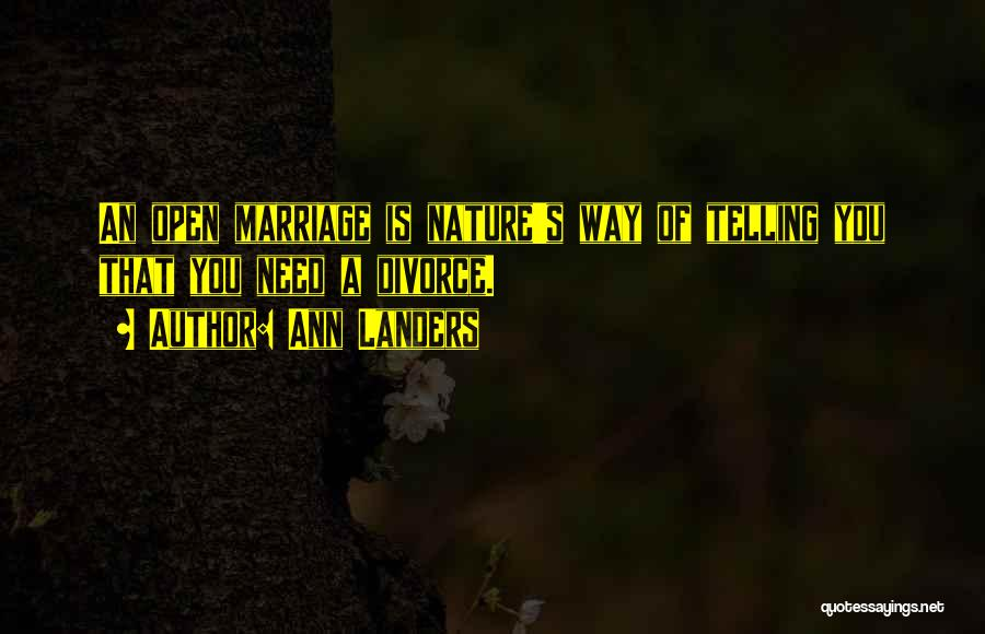 Funny Divorce Quotes By Ann Landers
