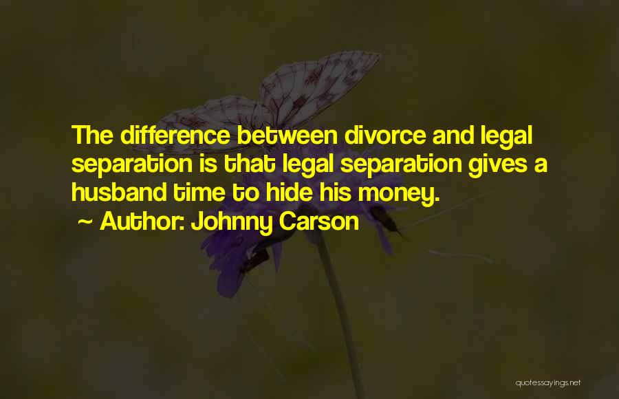 Funny Divorce Quotes By Johnny Carson
