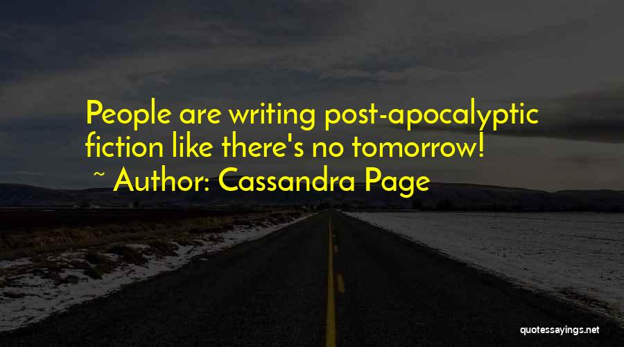 Funny Fiction Quotes By Cassandra Page