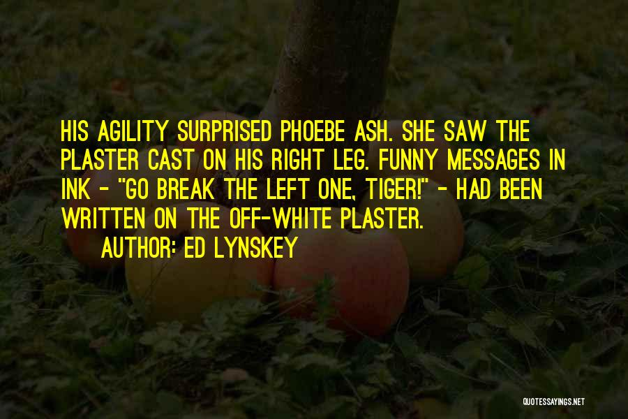 Funny Fiction Quotes By Ed Lynskey