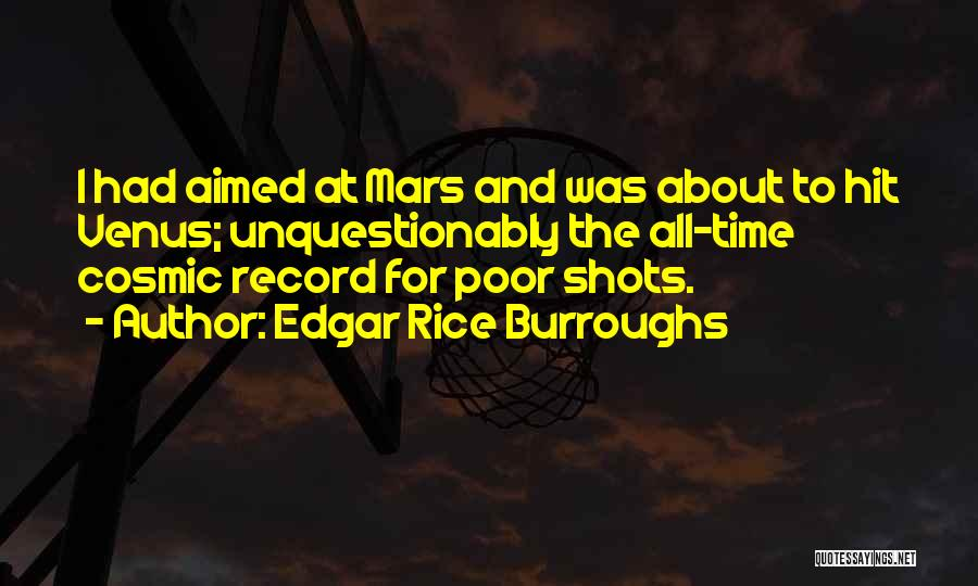 Funny Fiction Quotes By Edgar Rice Burroughs