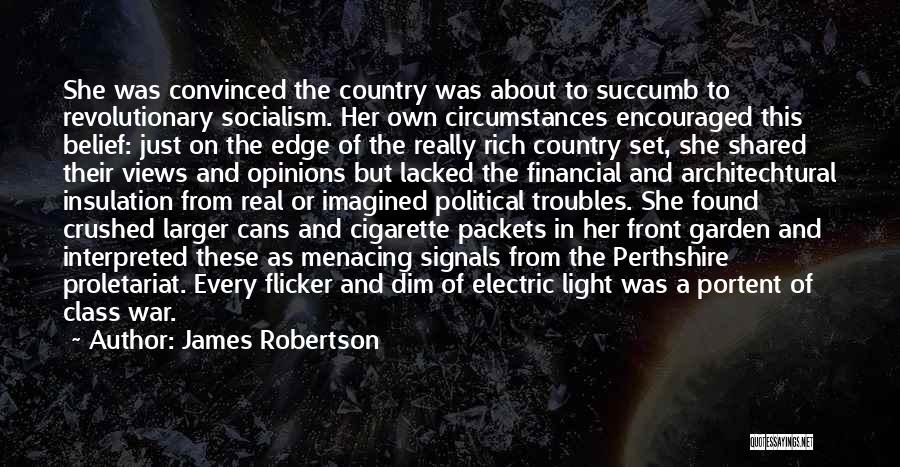 Funny Fiction Quotes By James Robertson