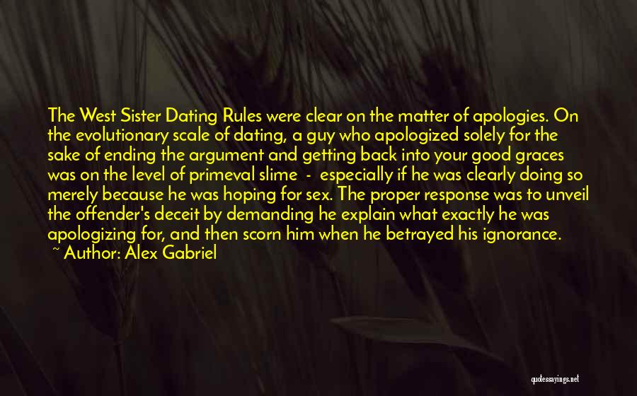 Funny Get On My Level Quotes By Alex Gabriel