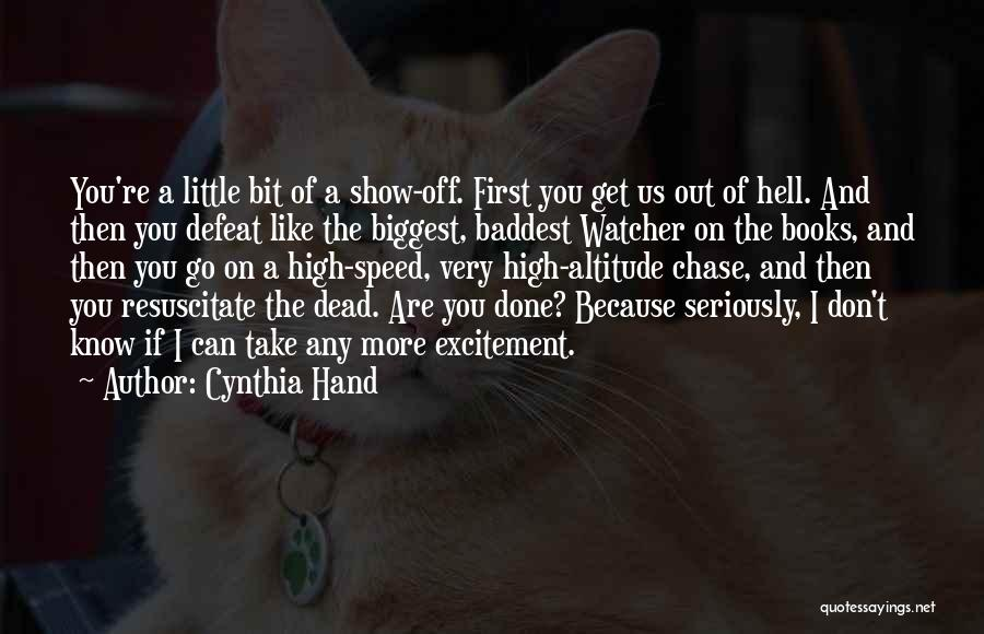 Funny High Quotes By Cynthia Hand