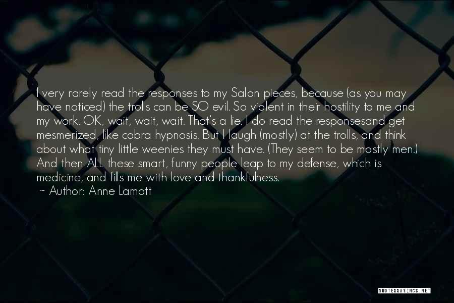 Funny Hypnosis Quotes By Anne Lamott