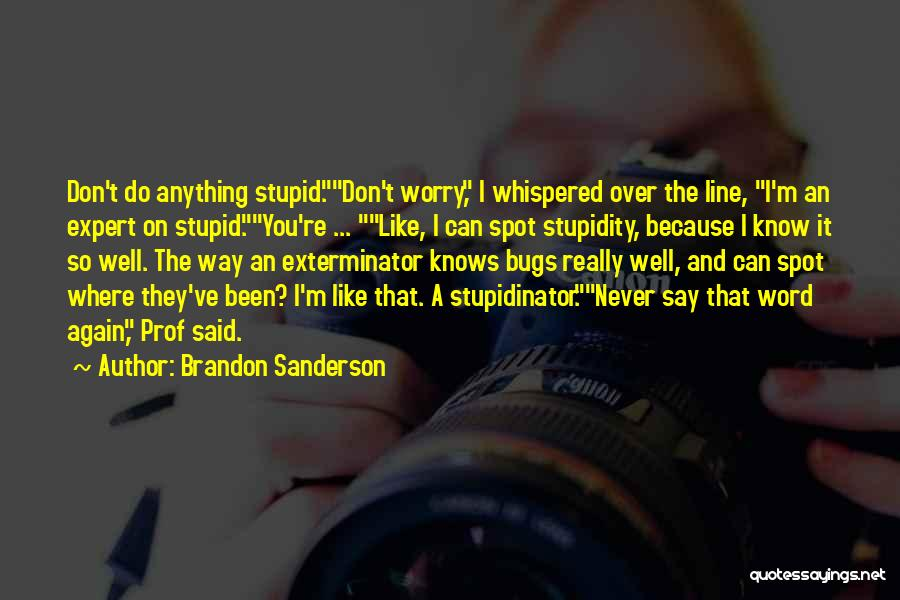 Funny I'm So Over You Quotes By Brandon Sanderson