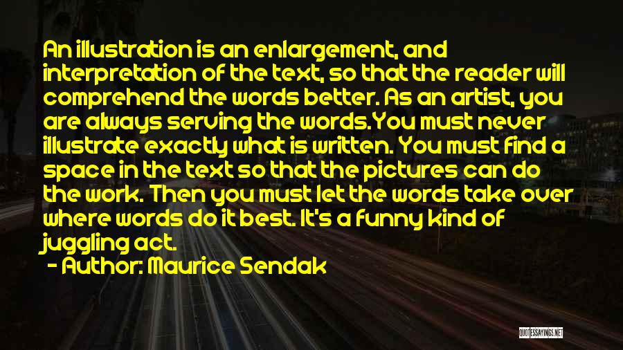 Funny In The Words Of Quotes By Maurice Sendak