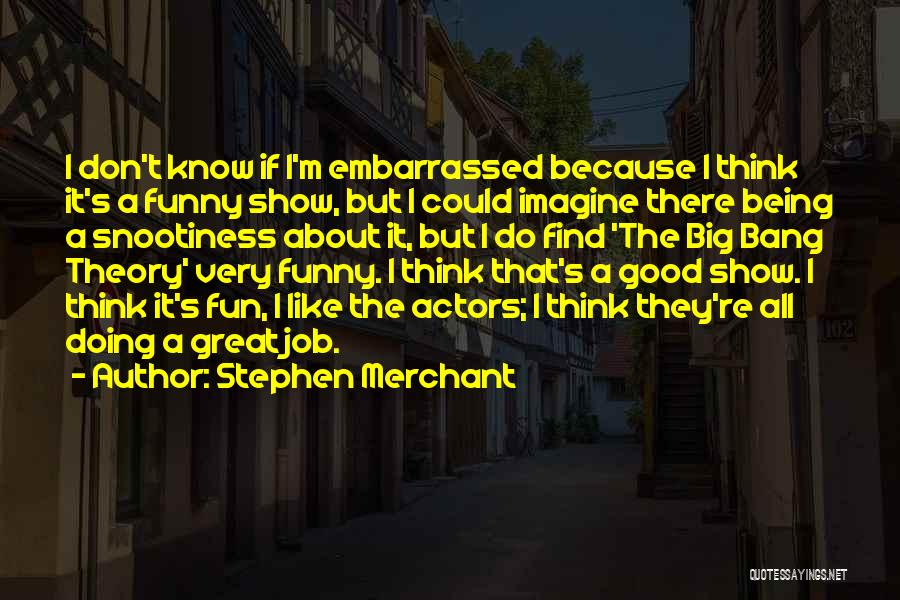 Funny Job Quotes By Stephen Merchant