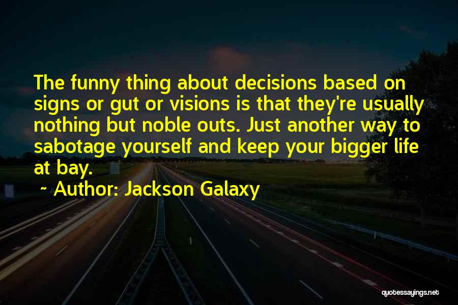 Funny Life Based Quotes By Jackson Galaxy