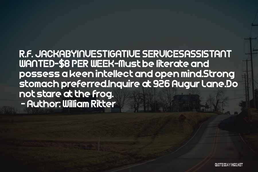 Funny Mind Quotes By William Ritter