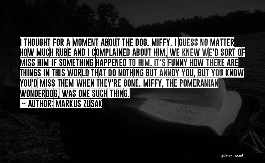 Funny Miss You Quotes By Markus Zusak