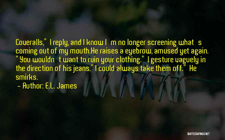 Funny No Reply Quotes By E.L. James