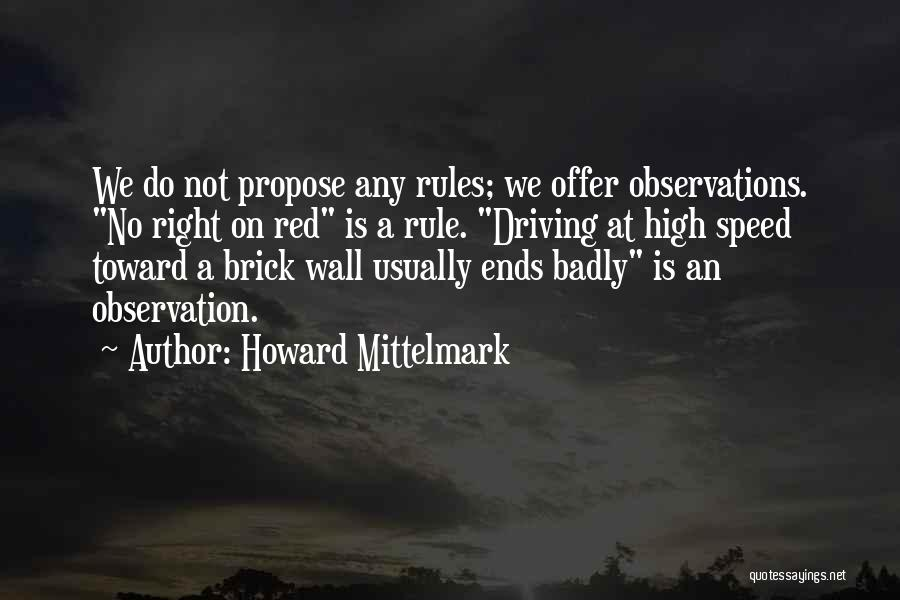 Funny Observation Quotes By Howard Mittelmark