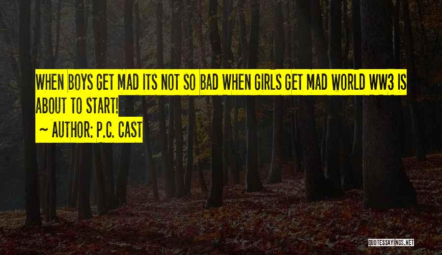 Funny P.s Quotes By P.C. Cast