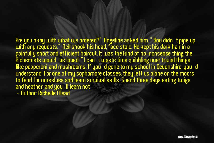 Funny School's Over Quotes By Richelle Mead