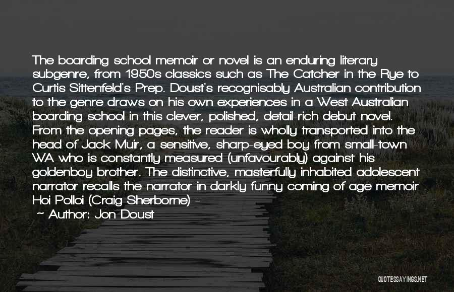 Funny Sharp Quotes By Jon Doust