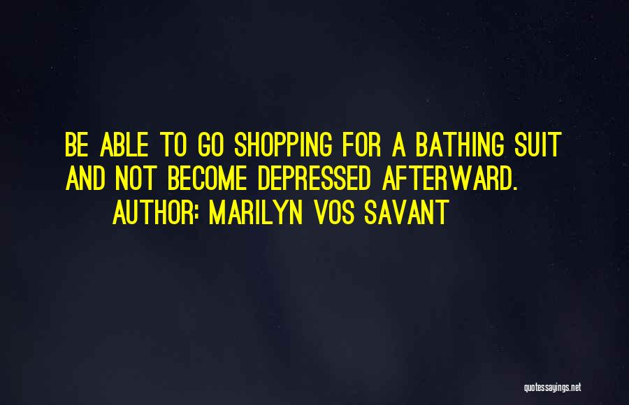 Funny Shopping Quotes By Marilyn Vos Savant