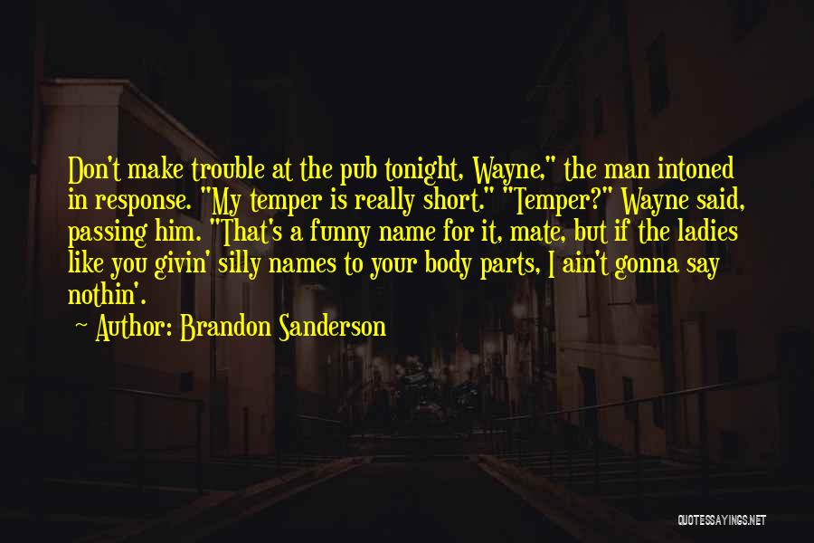 Funny Silly Quotes By Brandon Sanderson