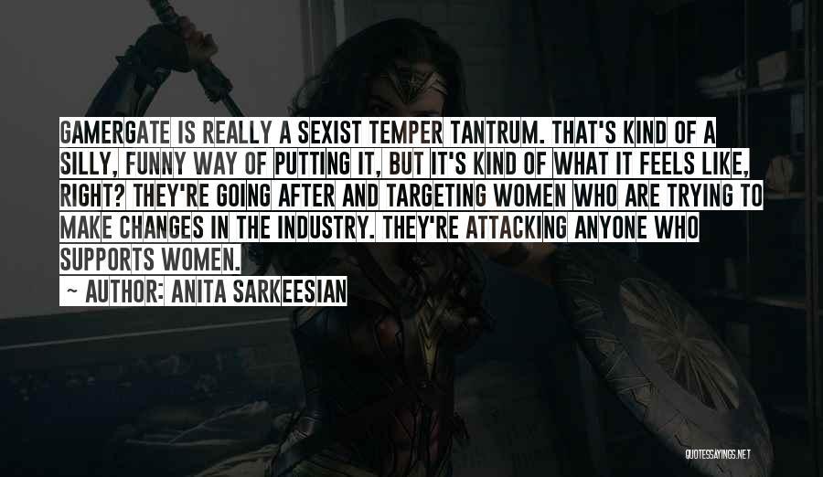 Funny Temper Tantrum Quotes By Anita Sarkeesian