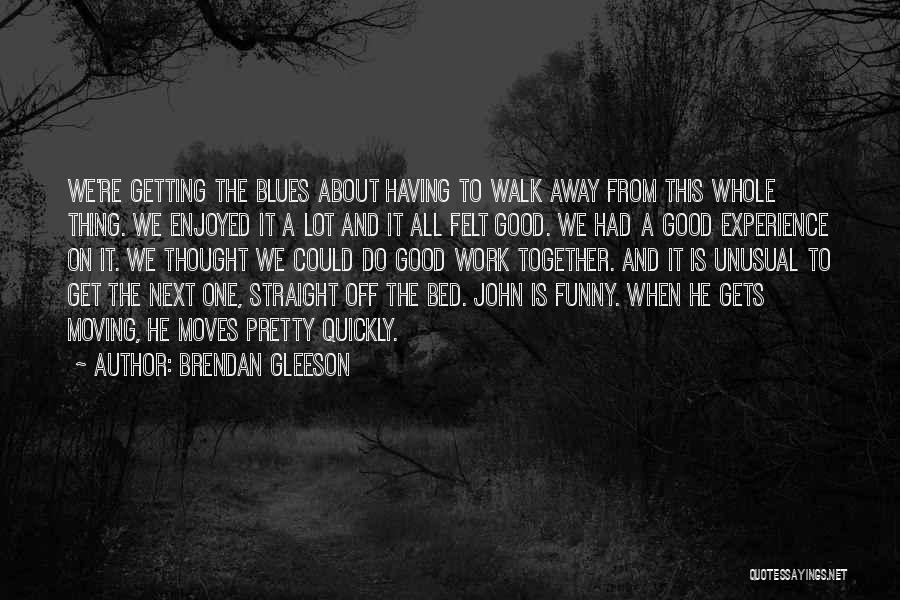 Funny Thing About Quotes By Brendan Gleeson