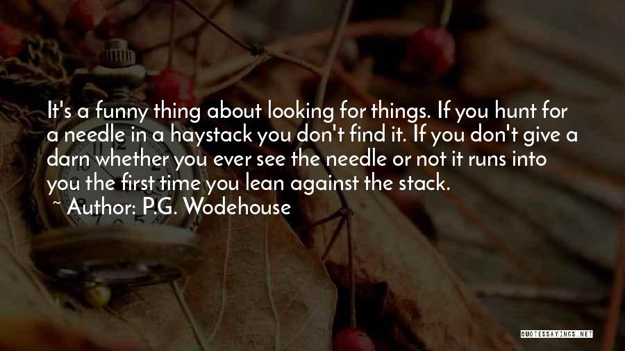 Funny Thing About Quotes By P.G. Wodehouse