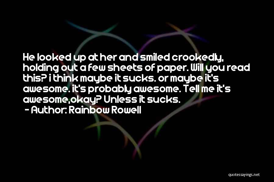 Funny You're Cute Quotes By Rainbow Rowell