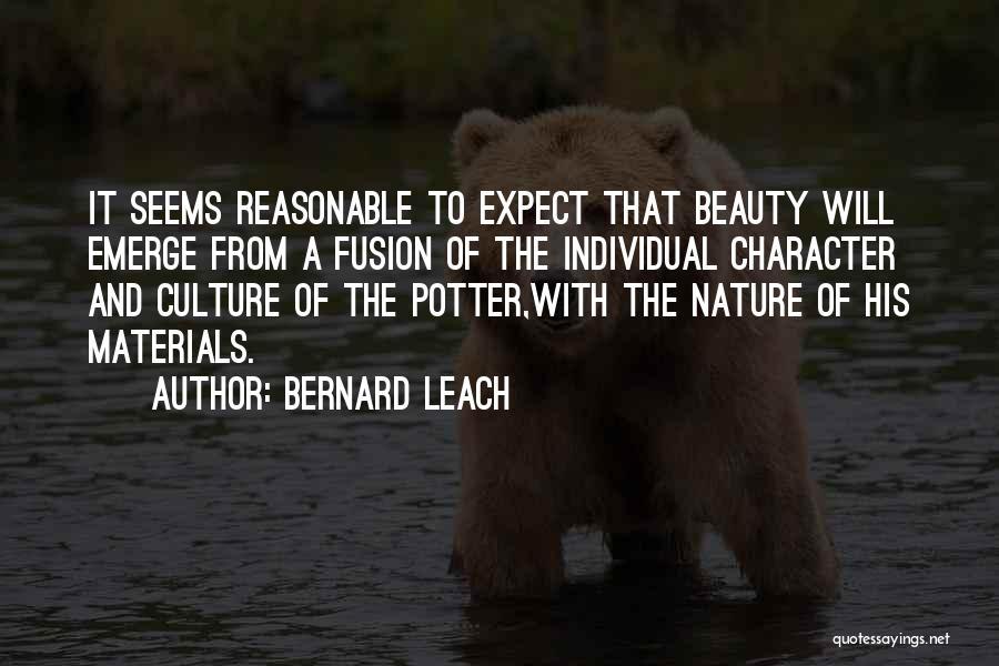 Fusion Quotes By Bernard Leach