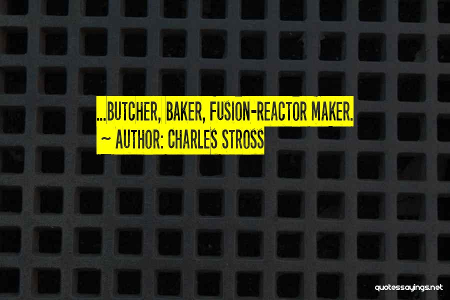 Fusion Quotes By Charles Stross