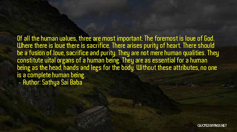 Fusion Quotes By Sathya Sai Baba
