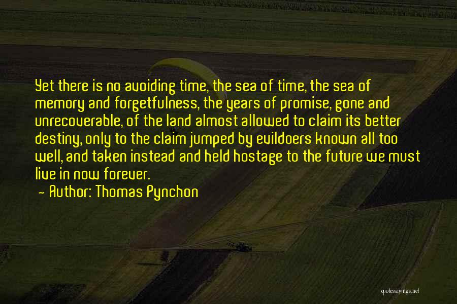 Future And Destiny Quotes By Thomas Pynchon