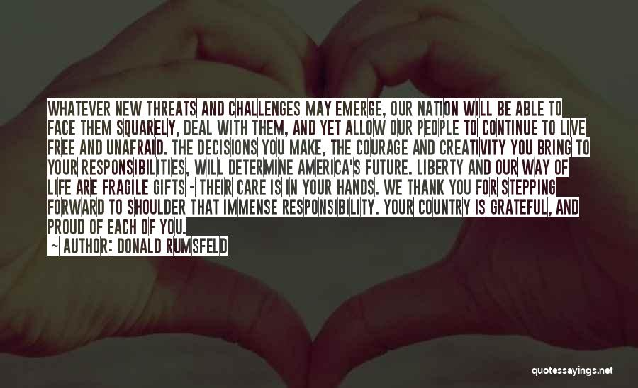 Future And Education Quotes By Donald Rumsfeld
