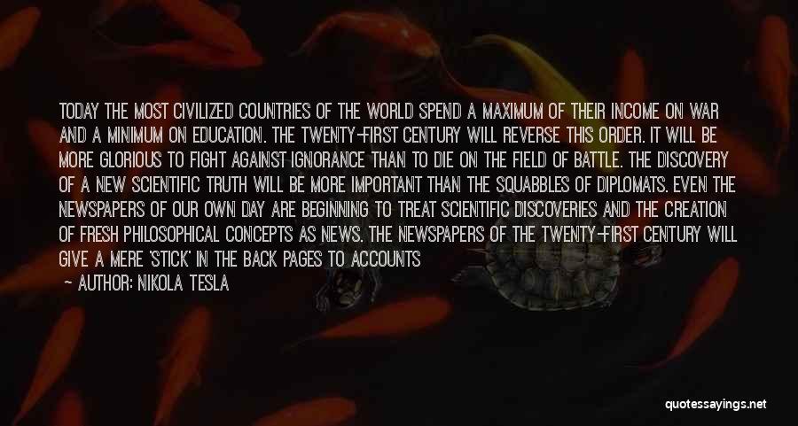 Future And Education Quotes By Nikola Tesla