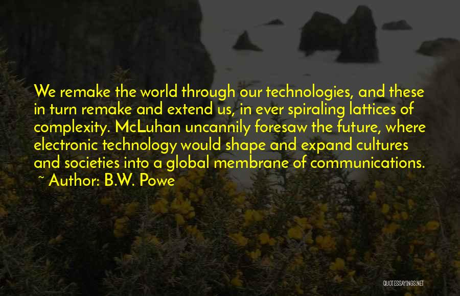 Future And Technology Quotes By B.W. Powe