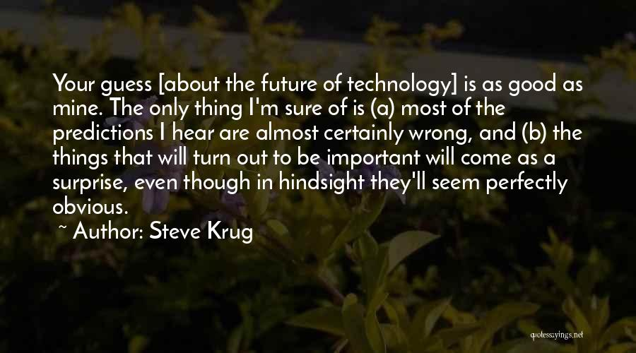 Future And Technology Quotes By Steve Krug