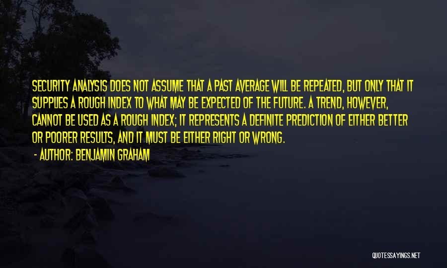 Future Not Past Quotes By Benjamin Graham