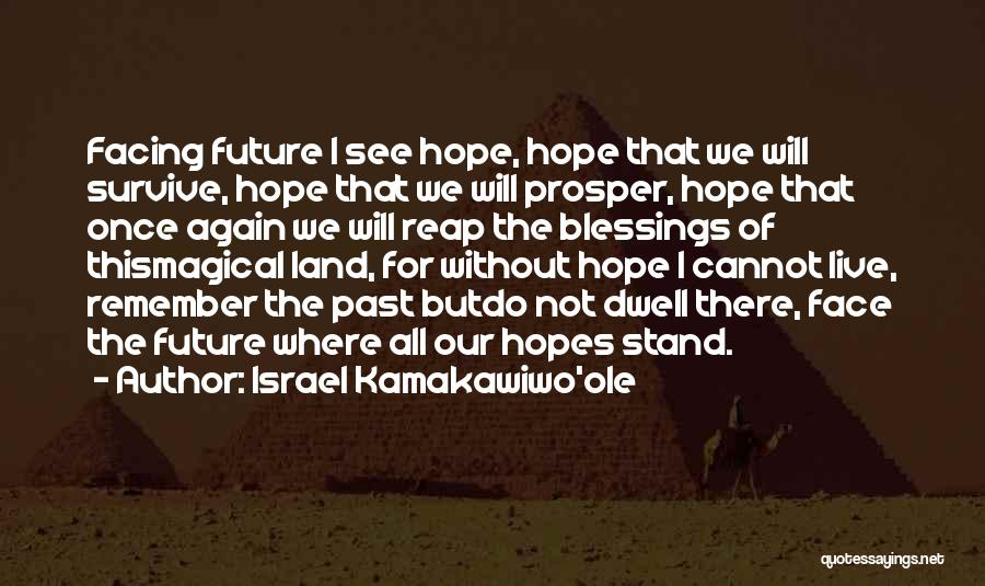 Future Not Past Quotes By Israel Kamakawiwo'ole