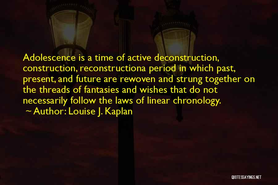 Future Not Past Quotes By Louise J. Kaplan