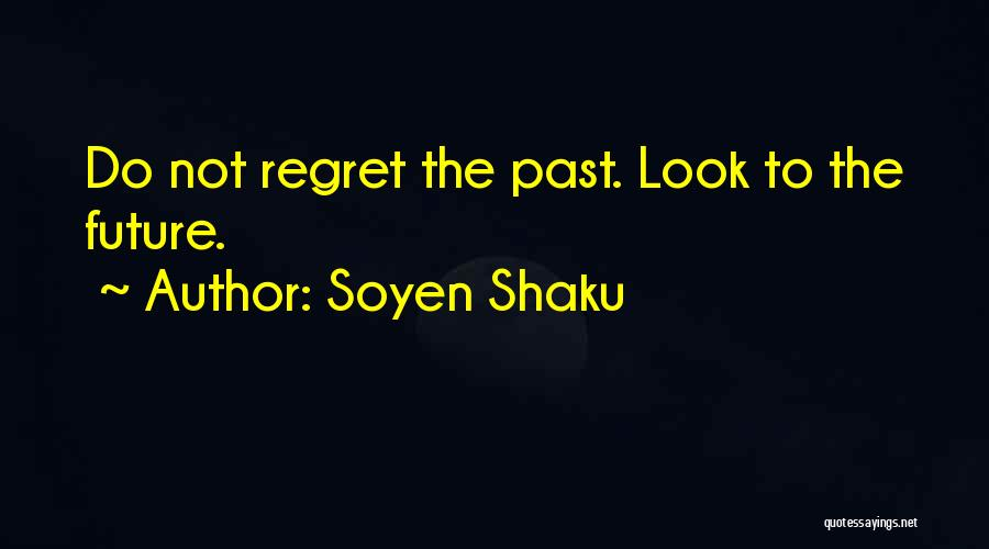 Future Not Past Quotes By Soyen Shaku