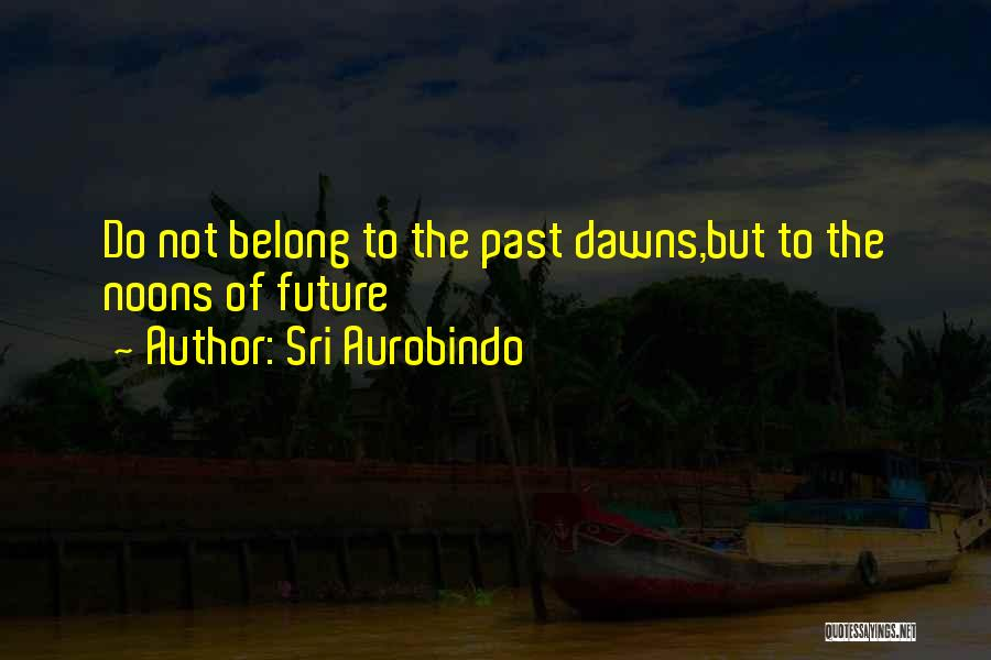 Future Not Past Quotes By Sri Aurobindo