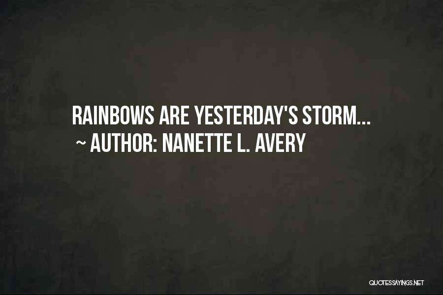 Future Outlook Quotes By Nanette L. Avery
