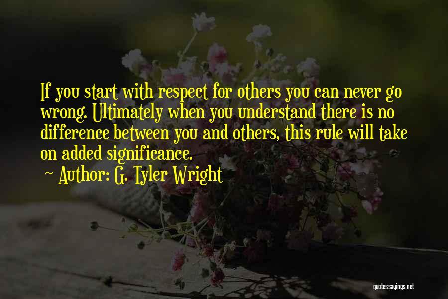 G. Tyler Wright Quotes 1539923