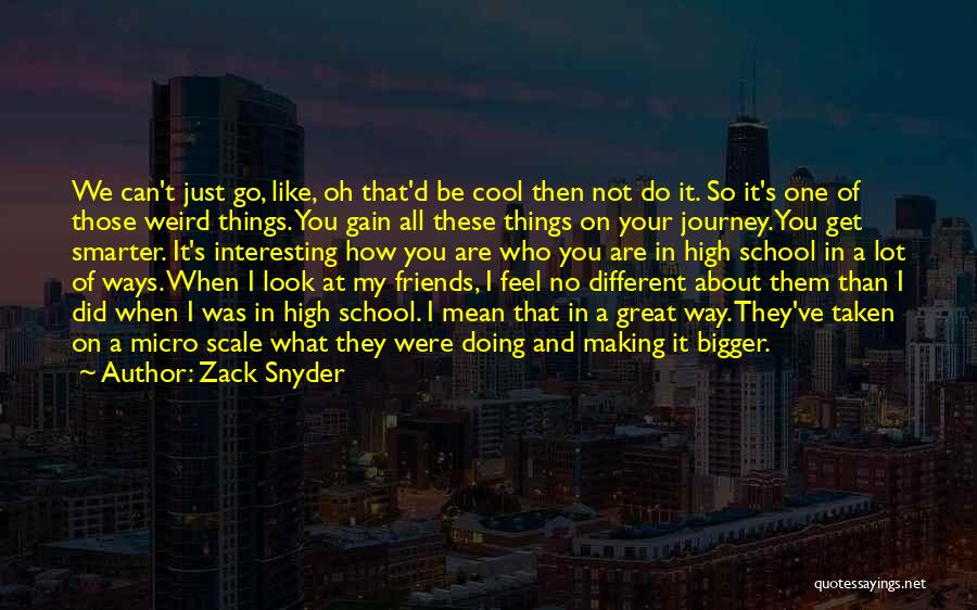 Gain Friends Quotes By Zack Snyder