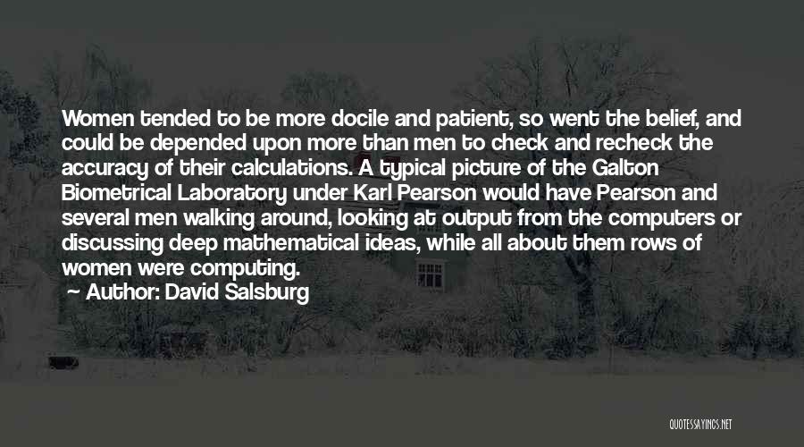 Galton Quotes By David Salsburg