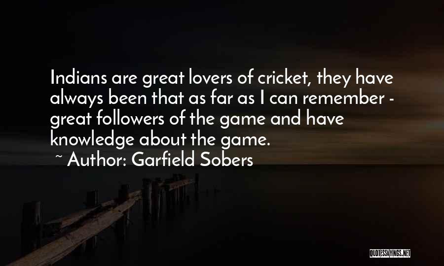 Game Of Love Quotes By Garfield Sobers