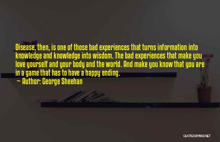 Game Of Love Quotes By George Sheehan