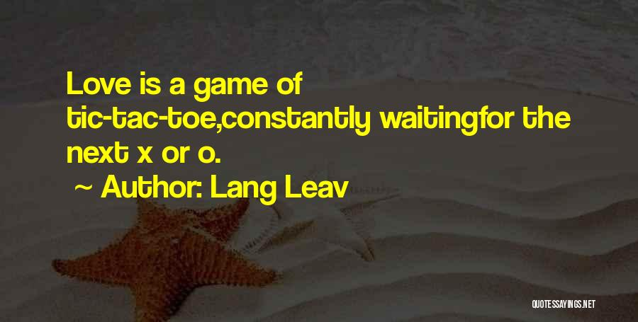 Game Of Love Quotes By Lang Leav