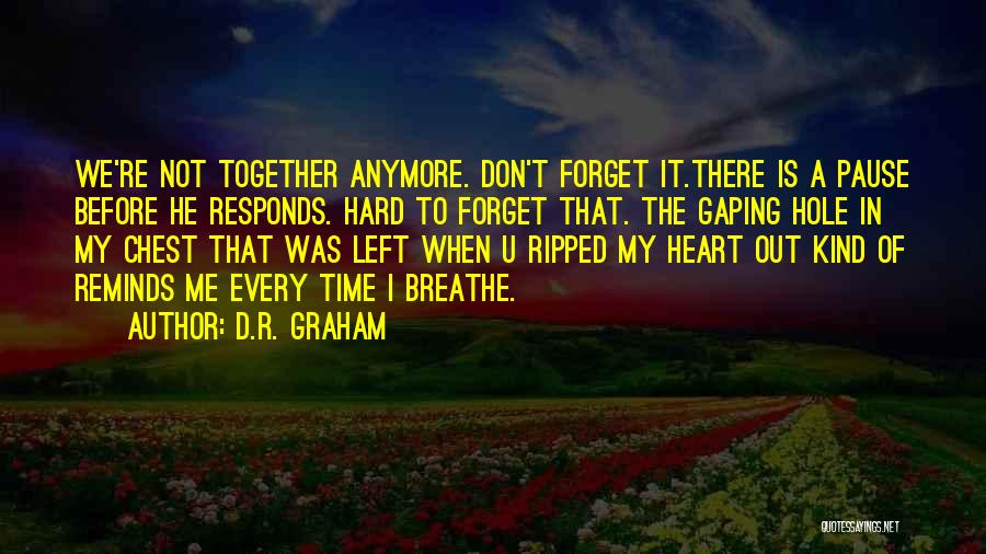 Gaping Quotes By D.R. Graham