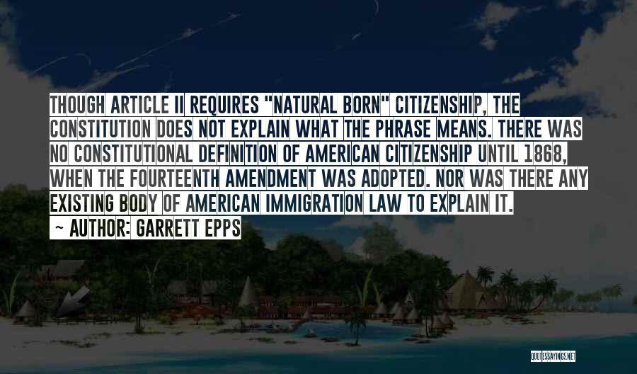 Garrett Epps Quotes 370136