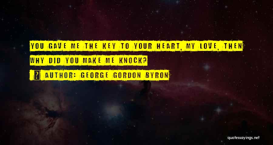 Gave My Heart Quotes By George Gordon Byron