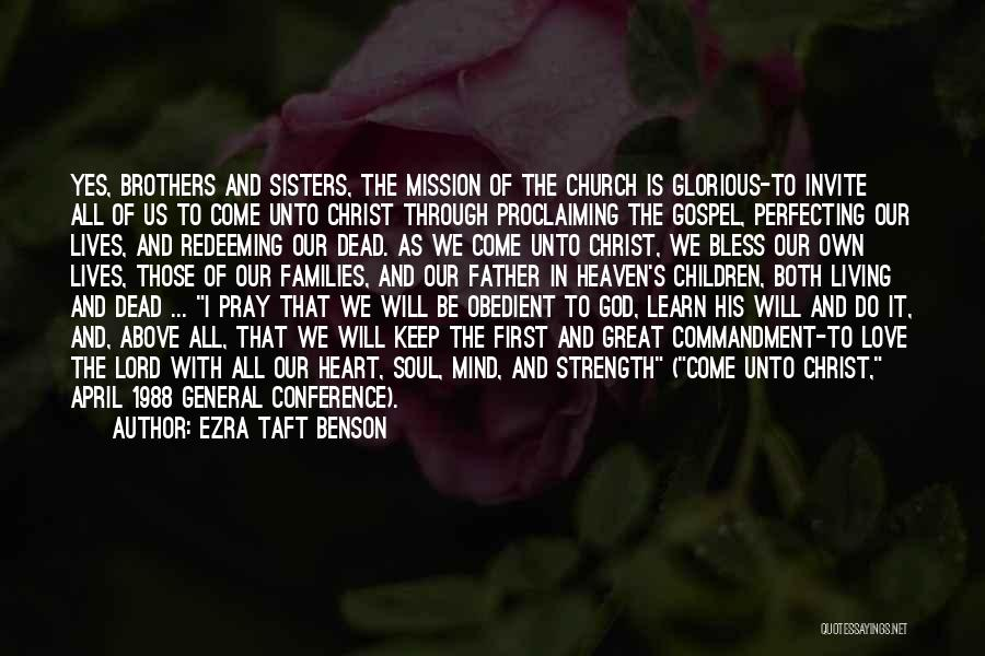 General Conference Quotes By Ezra Taft Benson